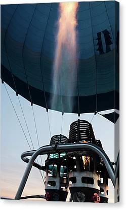 Hot Air Balloon Gas Burner Canvas Print by Photostock-israel