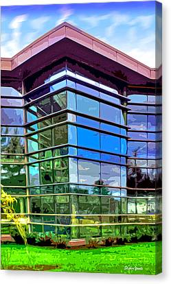 Howard County Library - Miller Branch Canvas Print by Stephen Younts