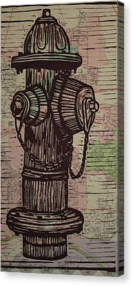 Hydrant Canvas Print by William Cauthern