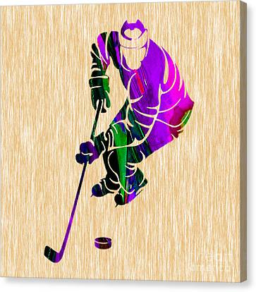 Ice Hockey Canvas Print by Marvin Blaine