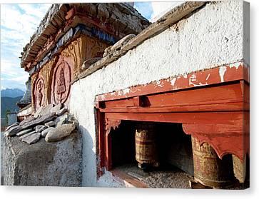 Tibetan Canvas Print - India, Jammu & Kashmir, Ladakh by Ellen Clark