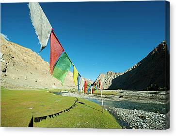 Tibetan Canvas Print - India, Ladakh, Markha Valley, Scenic by Anthony Asael