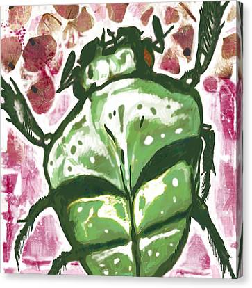 Insect Stylised Pop Art Drawing Potrait Poser Canvas Print by Kim Wang