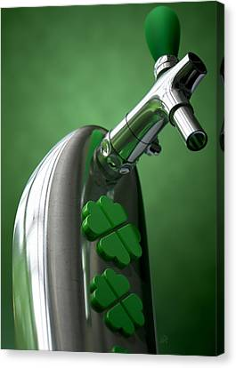 Booze Canvas Print - Irish Beer Tap by Allan Swart