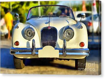 1957 Jaguar Xk 150 Drophead Coupe Canvas Print