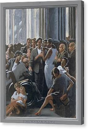 4. Jesus Preaches In The Temple / From The Passion Of Christ - A Gay Vision Canvas Print by Douglas Blanchard