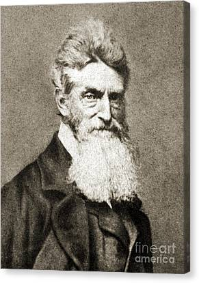 Bleeding Kansas Canvas Print - John Brown, American Abolitionist by Photo Researchers