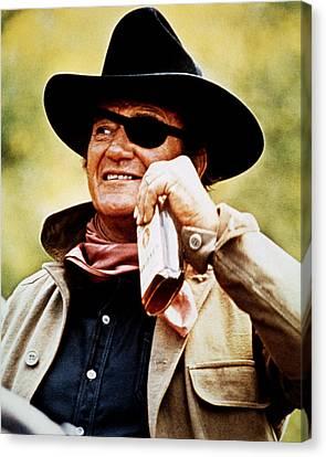 John Wayne In True Grit  Canvas Print by Silver Screen