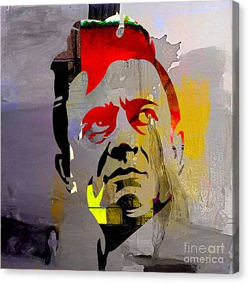 Johnny Cash Canvas Print by Marvin Blaine