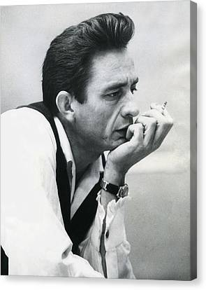 Famous Musician Canvas Print - Johnny Cash by Retro Images Archive