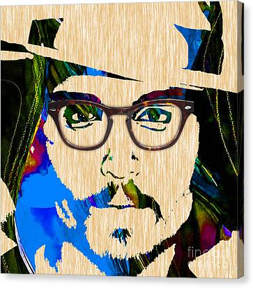 Hollywood Canvas Print - Johnny Depp Collection by Marvin Blaine