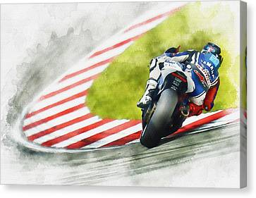 Jorge Lorenzo - Team Yamaha Racing Canvas Print