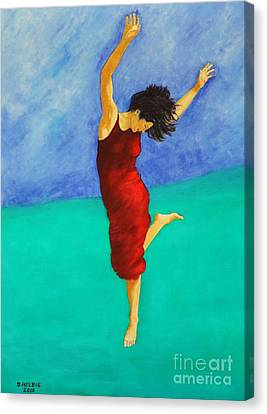 Jump Of Joy Canvas Print by Dagmar Helbig