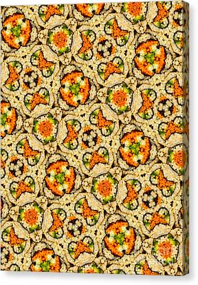 Kaleidoscope Vegetable Sushi Canvas Print by Amy Cicconi