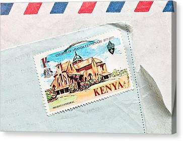 Kenya Stamp Canvas Print by Tom Gowanlock