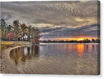 4 Lake Lenape W Sunrise6 Canvas Print