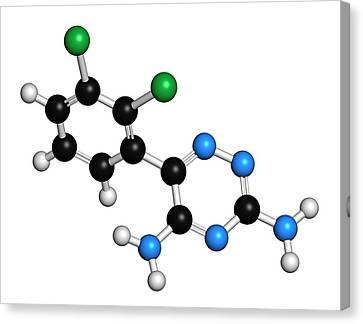 Bipolar Canvas Print - Lamotrigine Seizures Drug Molecule by Molekuul
