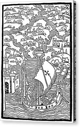 Landing Of Columbus, 1492 Canvas Print