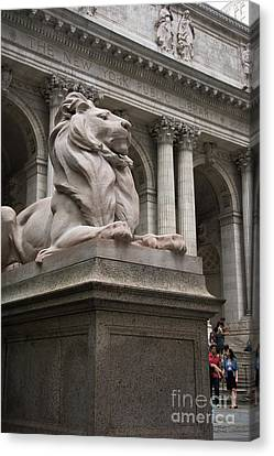 Nyc Canvas Print - Lion New York Public Library by Amy Cicconi