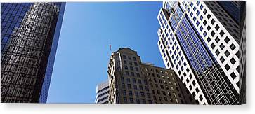 Low Angle View Of Skyscrapers Canvas Print by Panoramic Images