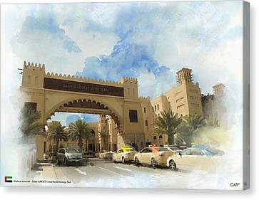 Madinat Jumeirah Canvas Print by Catf