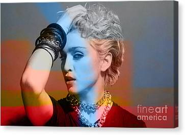 Madonna  Canvas Print by Marvin Blaine