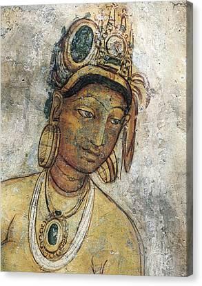 Maidens Among Clouds. 5th C. Sri Lanka Canvas Print by Everett