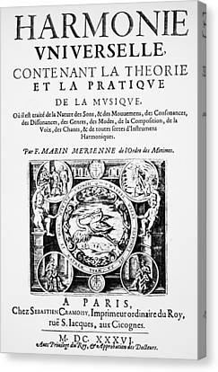 Marin Mersenne (1588-1648) Canvas Print by Granger