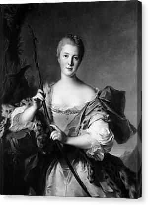 Marquise De Pompadour (1721-1764) Canvas Print by Granger