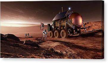 Mars Exploration Canvas Print by Detlev Van Ravenswaay