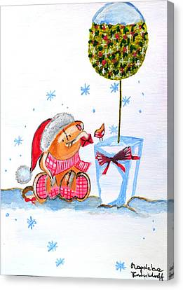 Merry Christmas Canvas Print by Magdalena Frohnsdorff