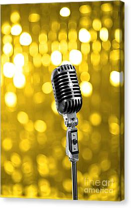 Concert Images Canvas Print - Mic by Viktor Pravdica