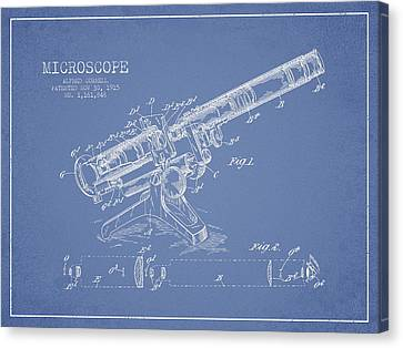Microscope Patent Drawing From 1915 Canvas Print by Aged Pixel