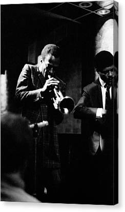 Grammy Winners Canvas Print - Miles Davis At The Penthouse by Dave Coleman