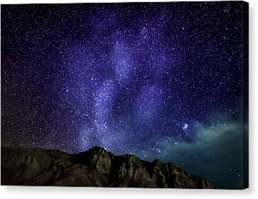 Milky Way Galaxy With Aurora Borealis Canvas Print by Panoramic Images