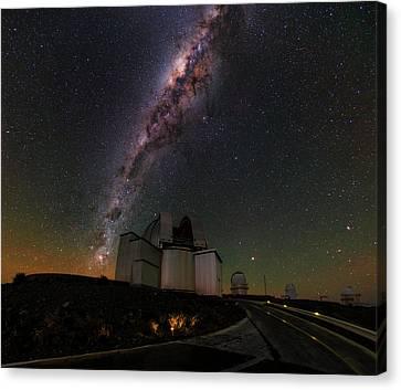 Milky Way Over La Silla Observatory Canvas Print by Babak Tafreshi