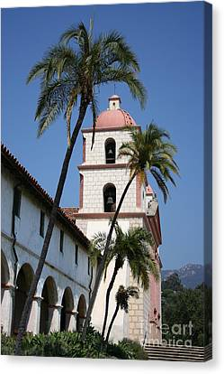 Old Mission Santa Barbara Canvas Print by Christiane Schulze Art And Photography