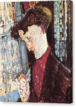 Modigliani, Amedeo 1884-1920. Portrait Canvas Print by Everett