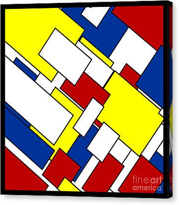 Mondrian Rectangles Canvas Print by Celestial Images