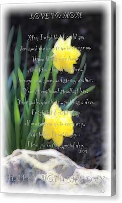Mothers Day Card Canvas Print by Debra     Vatalaro
