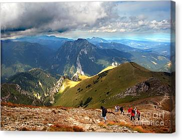 Mountains Stormy Landscape Canvas Print by Michal Bednarek