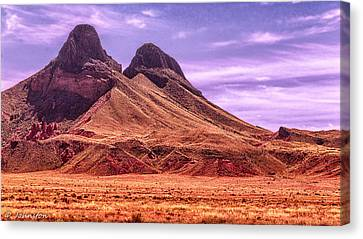 Navajo Nation Series Along 87 And 15 Canvas Print by Bob and Nadine Johnston