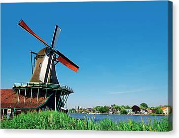 Netherlands, North Holland, Zaanstad Canvas Print by Miva Stock