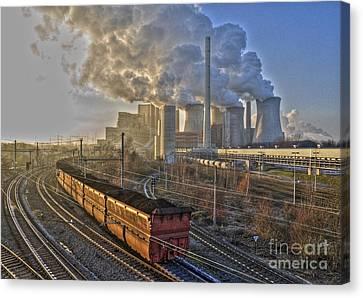Neurath Power Station Germany Canvas Print by David Davies