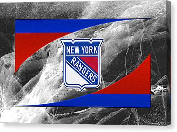 Skates Canvas Print - New York Rangers by Joe Hamilton