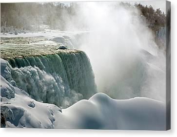 Niagara Falls In Winter Canvas Print by Jim West