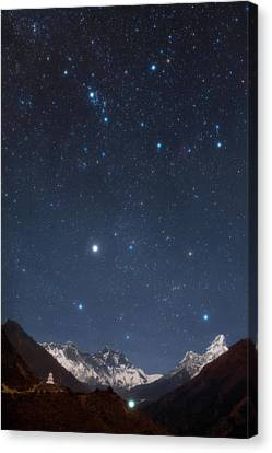 Constellation Canvas Print - Night Sky Over The Himalayas by Babak Tafreshi