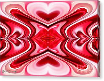 Noel Abstract Canvas Print by J McCombie