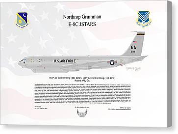 Northrop Grumman E-8c Jstars Canvas Print