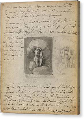 Notebook Of William Blake Canvas Print by British Library
